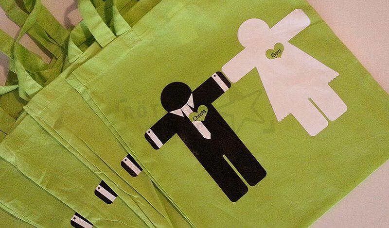 Stofftaschen für Hochzeiten